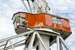 Crane cabin Royalty Free Stock Photography