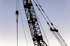 Crane Cables Rigging Abstract Stock Photography