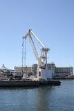 Crane at Cape Town Harbor Royalty Free Stock Image