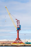 Crane at a Cargo Dock Stock Photos