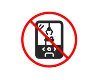 Crane claw machine icon. Amusement park sign. Vector. No or Stop. Crane claw machine icon. Amusement park sign. Carousels symbol. Prohibited ban stop symbol. No stock illustration