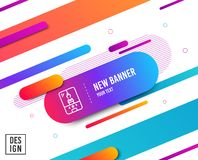 Crane claw machine line icon. Amusement park sign. Vector. Crane claw machine line icon. Amusement park sign. Carousels symbol. Diagonal abstract banner. Linear stock illustration