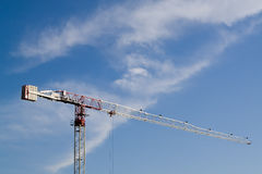 Crane and clouds Stock Image