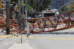 Crane Collapse at Dundas and River 08-06-20