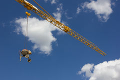 Crane with mixer Stock Photos