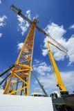 Crane and concrete pump Royalty Free Stock Photos