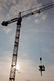 Crane concrete work Royalty Free Stock Photos