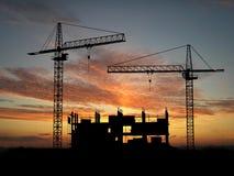 Crane construction Stock Image