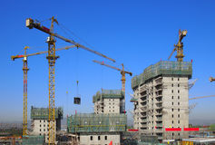 Crane in Construction Royalty Free Stock Images
