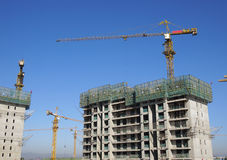 Crane in Construction Royalty Free Stock Photography