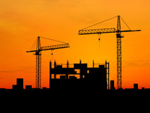 Crane construction Stock Images