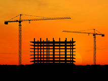 Crane construction Royalty Free Stock Photos