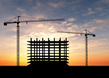 Crane construction Royalty Free Stock Images