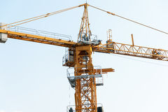 Crane in construction with blue sky Royalty Free Stock Photos