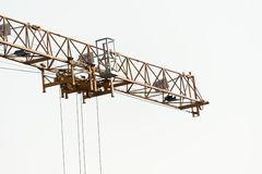 Crane in construction with blue sky Stock Images