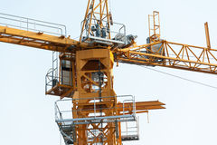 Crane in construction with blue sky Royalty Free Stock Photo