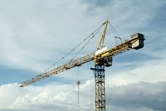 Crane construction Stock Photo