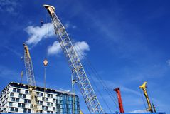 Crane. construction crane. Royalty Free Stock Photos