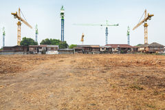 Crane construction Royalty Free Stock Photo