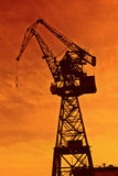 Crane for construction industry Royalty Free Stock Image