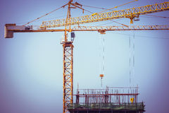 Crane construction industry background Royalty Free Stock Images
