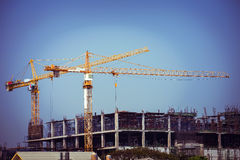 Crane construction industry background Stock Photography