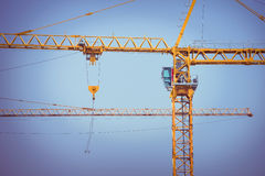 Crane construction industry background Stock Images