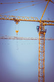 Crane construction industry background Royalty Free Stock Photos