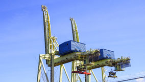Crane, construction and port industries Royalty Free Stock Photography