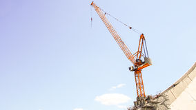 Crane, construction and port industries Royalty Free Stock Photo