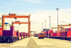 Crane, construction and port industries Stock Images