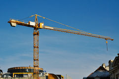 Crane construction site Stock Photo