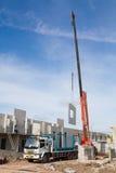 Crane on construction site Royalty Free Stock Photo