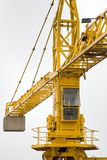 Crane at construction site. Crane in action Stock Image