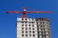 Crane on construction site Stock Image