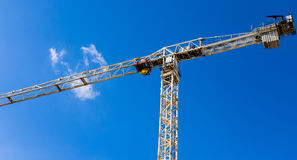 Crane construction site. Crane construction site against beautiful dramatic sky Stock Photography