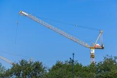 Crane in construction site Stock Photos