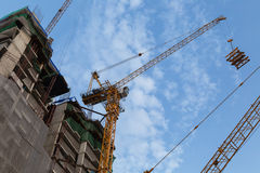 A crane in the construction site. The best of labor-saving for construction business Royalty Free Stock Photography