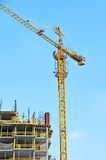 Crane and construction site Royalty Free Stock Photography