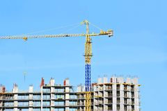 Crane and construction site Royalty Free Stock Image