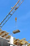 Crane and construction site Royalty Free Stock Photo