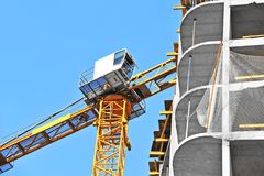 Crane and construction site Stock Image