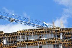 Crane and construction site Stock Photo