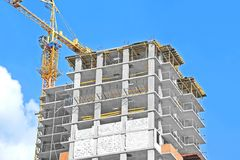 Crane and construction site Royalty Free Stock Photos