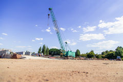 Crane on a construction site Stock Image