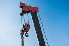 Crane in a construction site Royalty Free Stock Photo