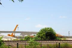 Crane in construction site, Florida, USA Royalty Free Stock Photos