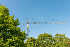 Crane on a construction site in Hamburg Stock Images