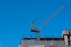 Crane in construction site Royalty Free Stock Photography