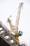 Crane at construction site in London. Royalty Free Stock Photo